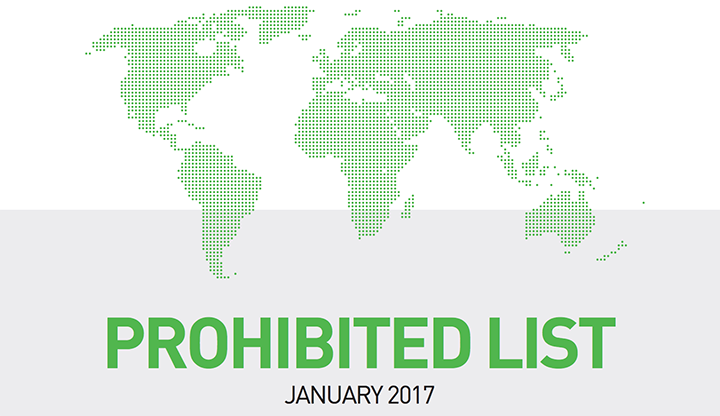 2017 List of Prohibited Substances and Methods